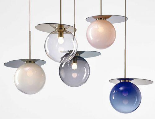 Геометрические формы стеклянных плафонов из коллекции UMBRA, от чешской фабрики BOMMA